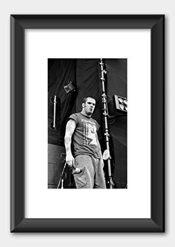 Pantera - Phil Anselmo Monsters of rock 1994 - Poster 6 Black Frame 29.7x42cm (A3) White