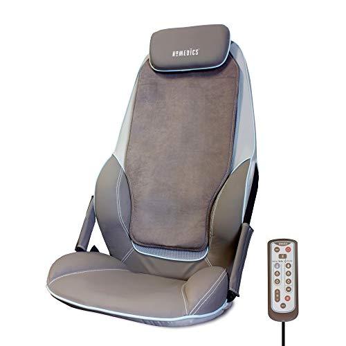 HoMedics Shiatsu Max massageapparaat voor rug en schouders, verstelbare massageoplegger, ontspanning voor schouder-, rug- en dijspieren met shiatsu-, rol- en vibratiemassage met warmte