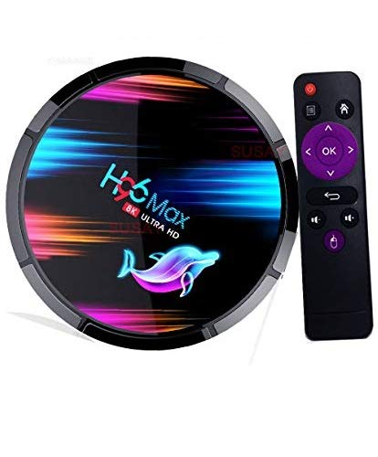 Android 9.0 TV Box 4GB RAM 128GB ROM H96 Max TV Box Amlogic S905X3 64-bit Quad Core with Dual Wi-Fi 2.4G/5.0G, BT 4.0/ 3D Ultra HD 8K/ H.265/ 1000M LAN/USB 3.0 Smart TV Box