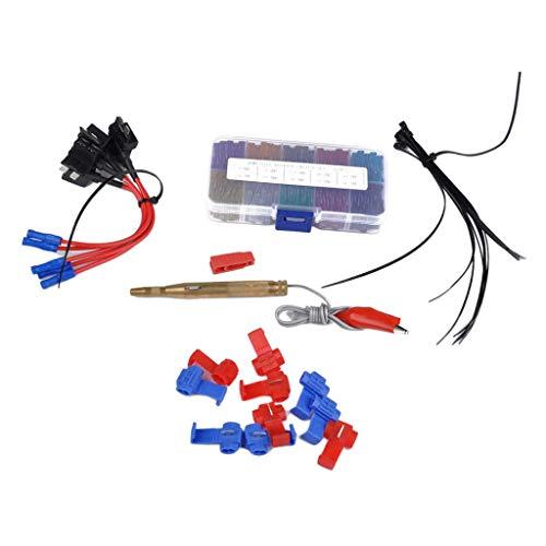 IPOTCH Kit Surtido de Mezcla de Caja de Fusibles para Automóvil de 100 Piezas 3A-40A con Portafusibles