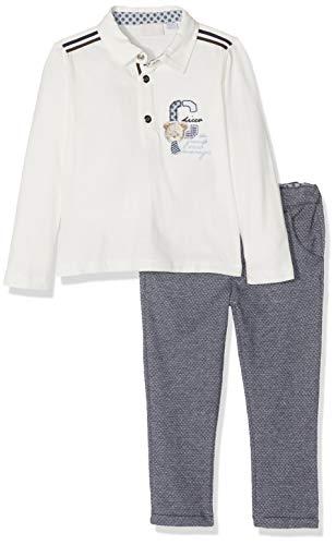 Chicco Completo Polo con Pantaloni Lunghi Conjunto de Ropa, Azul (BLU Scuro 088), 74 (Talla del Fabricante: 074) para Bebés