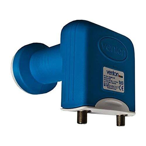 Venton Unicable LNB BL-SCR I Einkabelsystem für 4 Teilnehmer + 1 Legacy-Ausgang I LNB Single 0,1dB - UHD Full HD-TV 4K 3D tauglich I Sat Einkabel-Lösung I Unikabel LNB mit 2 Ausgängen