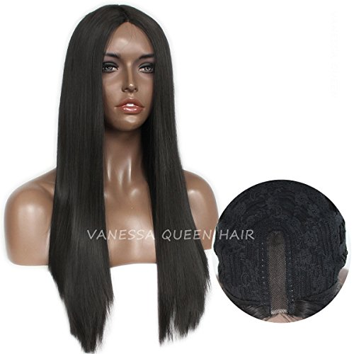 Vanessa Queen Naturel droite longue perruque Lace Front synthétique supplémentaire avec Hairline pour femme 45,7 cm