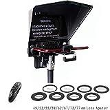 Bestview T2 Teleprompter Smartphones Tableta Cámaras DSLR Transmisor en Vivo Entrevista Prompter con Control Remoto y 8 tamaños Anillos de...