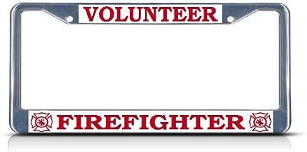 Best volunteer firefighter license plate frame Reviews