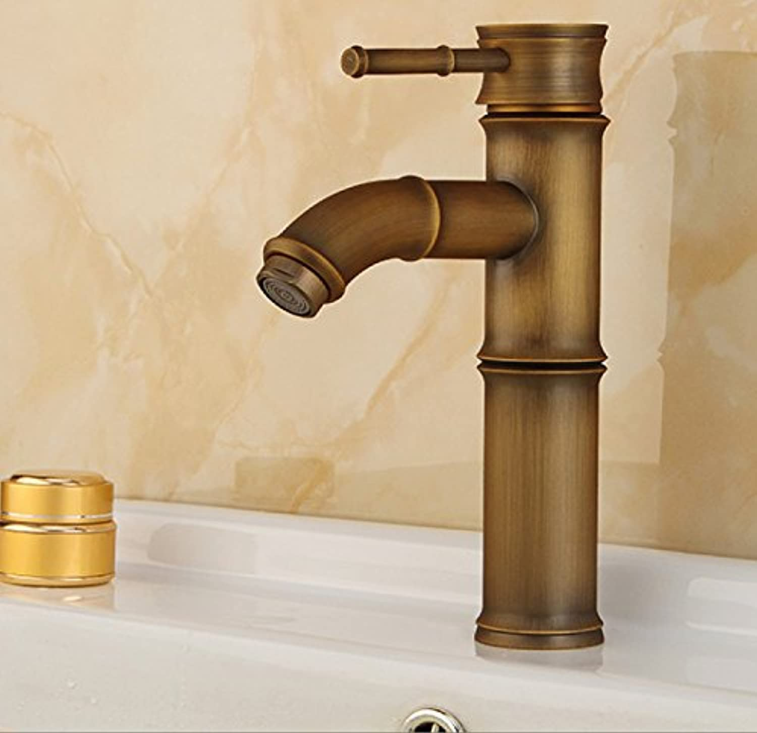 Hlluya Professional Sink Mixer Tap Kitchen Faucet Basin faucet antique faucet bronze basin-wide water faucet single handle hot and cold