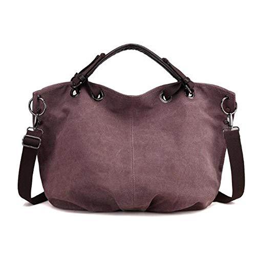 lem Messenger Bags, Damen Umhängetasche, Vintage Canvas Tasche für Schule und Beruf
