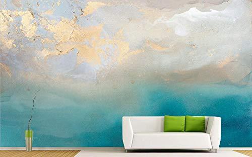 Fototapeten Für Schlafzimmer Abstrakte Goldene Aquarell Fototapete 3D Hintergrund Des Wohnzimmersofa Tv Fresco 400×280cm