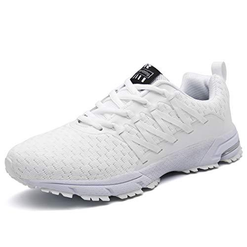 SOLLOMENSI Laufschuhe Damen Sportschuhe Straßenlaufschuhe Sneaker Joggingschuhe Turnschuhe Walkingschuhe Schuhe 38 EU B Weiß