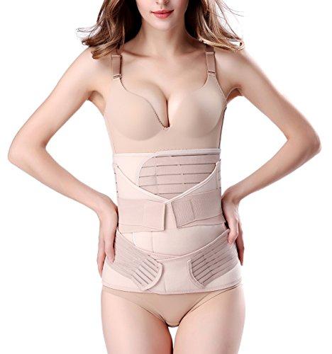 3 en 1 Faja posparto Cuerpo de la faja de recuperación del cinturón de recuperación, una talla para la mayoría de las damas