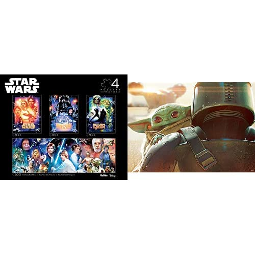 Star Wars - Collector's Edition 4-in-1 Jigsaw Puzzle Multipack & Star Wars - The Mandalorian - The Child - 500 Piece Jigsaw Puzzle