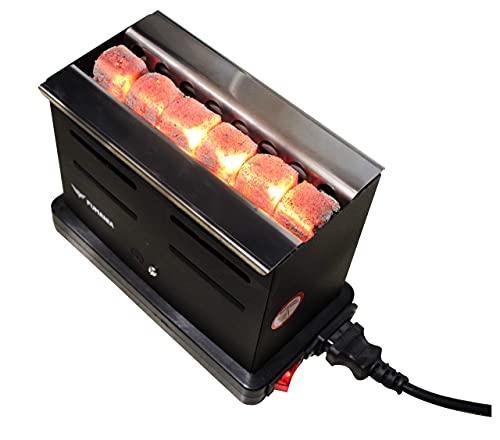 Encendedor de carbón para cachimba Toaster rápido, ideal para encender carbón natural para shisha (800 W)