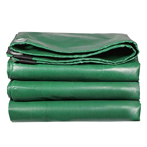ZWYSL Tarps With Eyelets Tarpaulins Large Area Green Anti-Aging Insulation Soft Glass Tarpaulin Thicken Tarps Heavy Duty Outdoor 0.5mm Thick Double-sided Waterproof