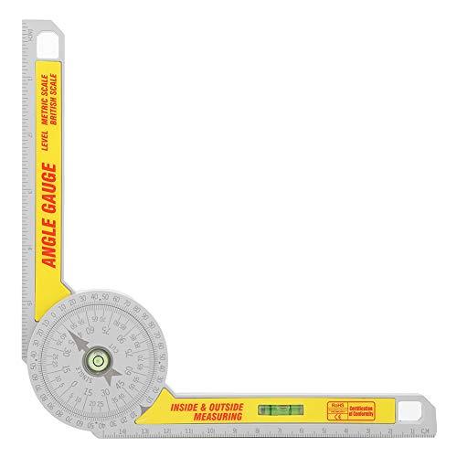 Medidor de ángulo métrico imperial de 360 grados resistente al desgaste dentro del goniómetro de medición exterior para profesionales
