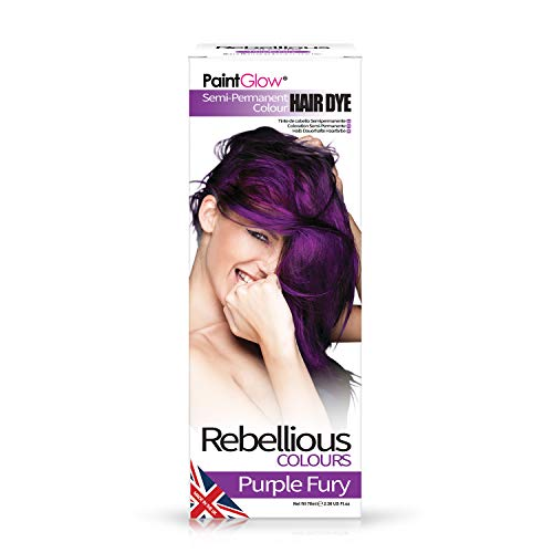 PaintGlow Tinta per Capelli Semi-Permanente Purple Fury - 20 gr