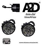 A2D 9 LED Small Handle Mirror Mount AUX Bike Fog Lamp Light Set