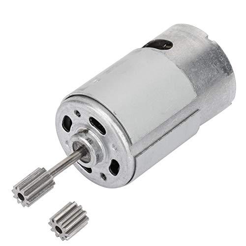 Mikromotor, 6V DC Getriebemotor mit zwei Zahnköpfen, RS550 Kleiner Hochgeschwindigkeits-Elektromotor für elektrisches Spielzeugauto Kindermotorrad, 35W - 55W(550-20000rpm)