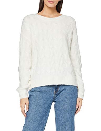 ESPRIT Damen 100EE1I311 Pullover, Off White (110), S