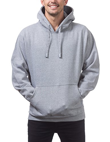 Pro Club Men's Heavyweight Pullover Hoodie (13oz), Small, Heather Gray