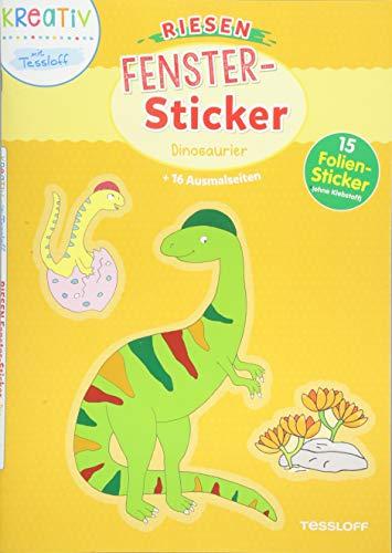 Riesen Fenster-Sticker Dinosaurier: Mit 15 Folien-Stickern!