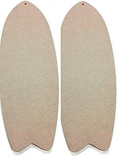 "SJT ENTERPRISES, INC. 24"" Long MDF Wood Craft Surfboard - 1 Piece - 24"" x 7.5"" x 1/4"" Thick - Cut it, Paint or Stain it, p..."