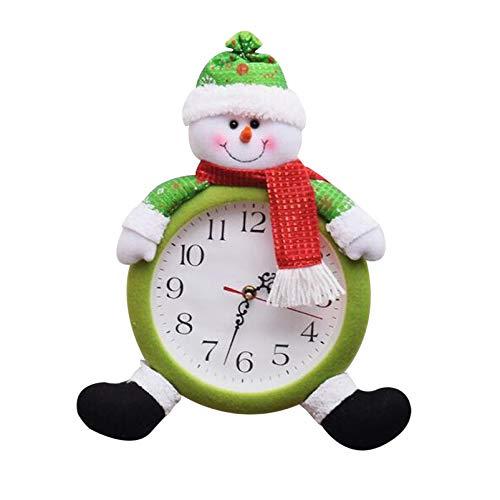 Wecker Analog Weihnachten Weihnachtsdeko, Batteriebetrieben Retro Wecker Alarm Clock Analog Quarzwecker Kinder Wecker, Kinderwecker Tischuhren Reisewecker für Schlafzimmerbüro (Grün)