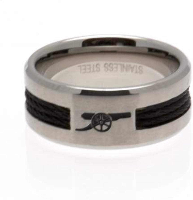 Arsenal F.C. Black Inlay Ring Large