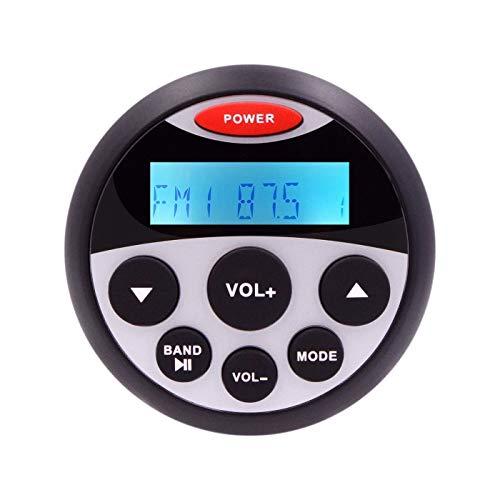Seefunk, wasserdichter Marine Stereo Bluetooth Radio-Motorrad-Audio-Boots-Auto-MP3-Player Auto-Sound-System FM AM-Empfänger für SPA UTV ATV