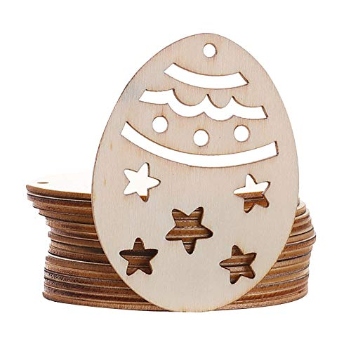 Easter Decoration, 10pc Easter Ddecoration Wooden Pendant Holiday Decoration Accessories,Home Ornaments Household Decoration Toys Gift Easter Party Favor for Kids Children Adults
