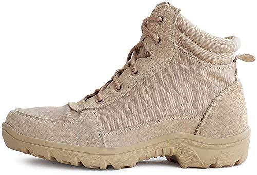 LUDEY Botas Tácticas Militares de Hombre Botas Jungle Combat Zapatillas de Senderismo Zapatos de Trabajo y Seguridad YL-511 Beige 41 EU