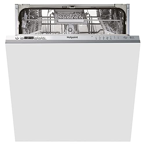 Hotpoint HIC 3C33 CWE UK Integrated Full Size Dishwasher, 14 Place Settings, Silver