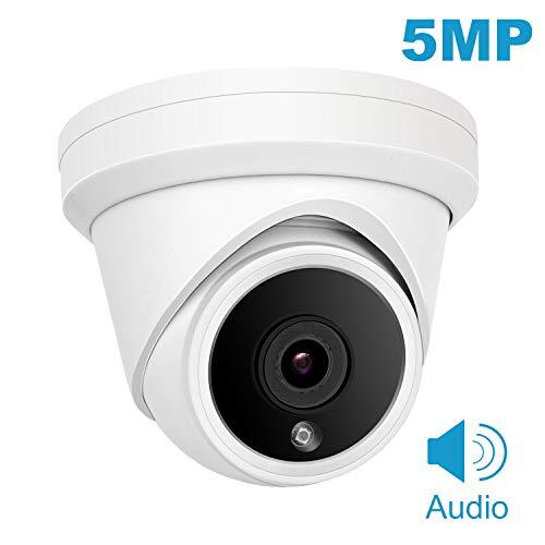 POE IP Dome-Kamera, Anpviz 5MP HD 2560x1920 Outdoor-Überwachungskamera mit 2,8 mm Weitwinkel, Nachtsicht, Bewegungserkennung, IP66-wetterfest