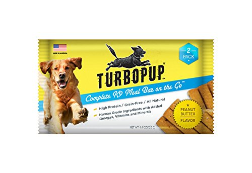 As Seen on Shark Tank - TurboPUP Complete K9 Meal Replacement Bar, Peanut Butter Flavor - 2 Bars (4.4 oz)