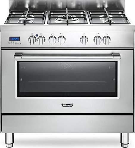 Cucina a gas con forno elettrico, N° 5 Fuochi, 90x60 cm, PRO 96 MX ED