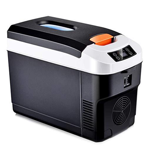 QTCD Kühlschrank Kühlschrank Gefrierschrank Glaciere 10L Mini Autokühlschrank 12V 220V Home Autokühlschrank Kühlbox Dual Use Heiß/Kalt Tragbar IceBox Kleine Gefriertruhe, Camping