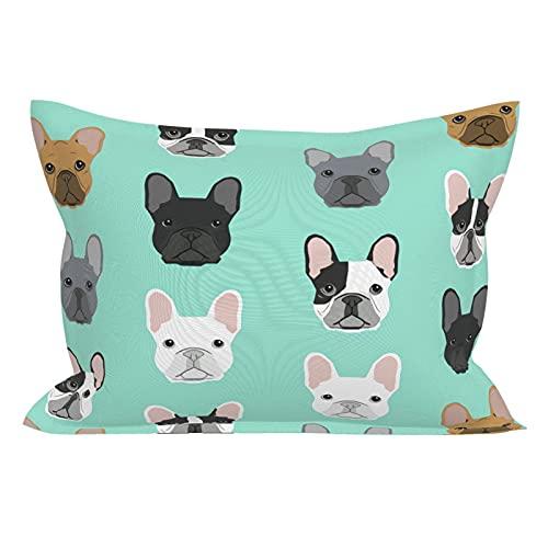 French Bulldog Dog Puppy Dog Standard Pillowcase Lightweight Super Soft Easy Care Microfiber Pillowcases
