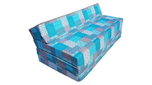 Matelas pliant sofa pour adultes et enfants, choix des couleurs 200 cm de long (GARDEN)