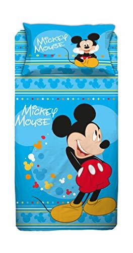 Disney Juego de Cama de Color Azul, 1 Plaza