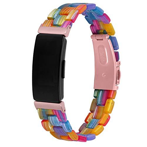 SenMore Correas compatibles con Fitbit Inspire 2 Correas Pulsera de Resina de Repuesto Correa de muñeca Correa de Reloj Accesorios para Fitbit Inspire 2 (sin Host)