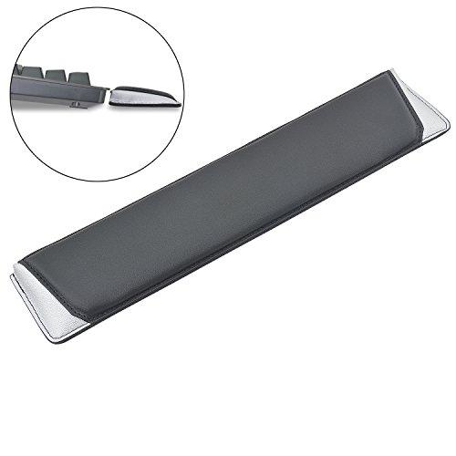 Rancco tastiera Poggiapolsi Pad, 36,8x 8,1cm in similpelle morbido cuscino ergonomico per polso sostegno Pad per portatili/Notebook/MacBook/computer, Ecopelle, 14.5' Silver, 14.5 * 3.2 * 0.8 inch