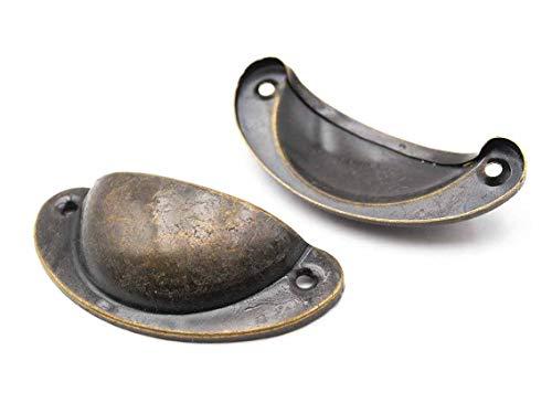 Vintageparts Muschelgriffe in antik bronzefarben 2 Stück zum Schmuck selber basteln Möbel Design