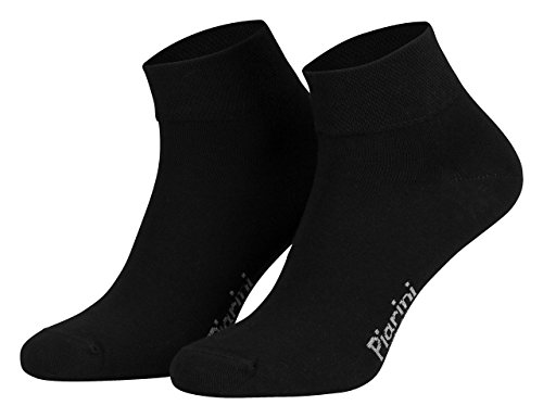 Piarini 8 Paar kurze Socken Kurzsocken Quarter Socken für Damen Herren Kinder - dünn, ohne Gummib& - schwarz 43-46
