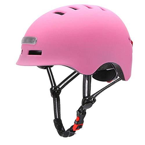 CascosDeCiclismoMultiuso Casco De Bicicleta Inteligente con 3 Tipos De Luces De Advertencia Casco Brillante Inteligente Y Seguro Casco De Bicicleta Cómodo Y Ligero-04_L