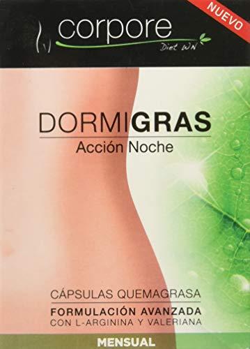 """Corpore Diet Complementos Alimenticios de Control de Peso """"Dormigras"""" Acción Noche - 60 Cápsulas"""