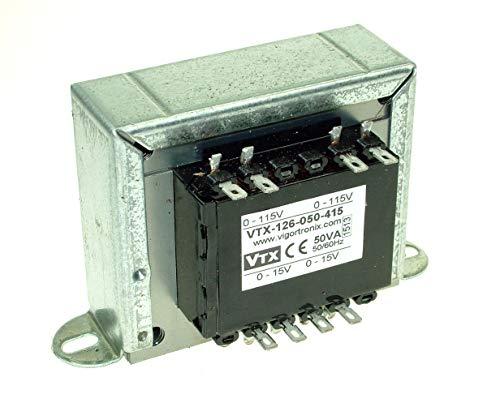 2 x 15 V 6VA Trasformatore VIGORTRONIX-VTX-120-4206-415