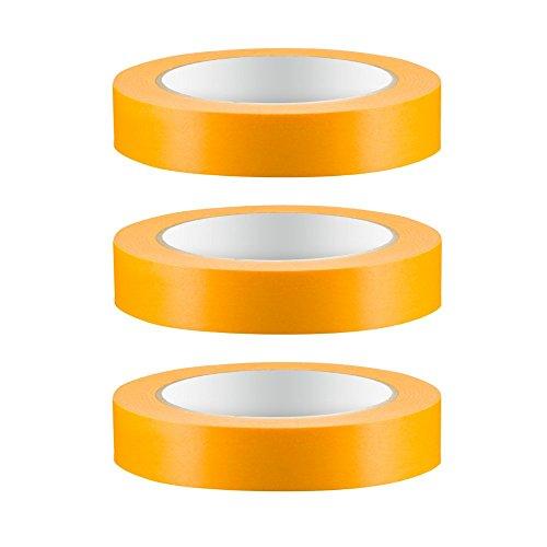 3 x Colorus Profi Goldband Fineline 25mm 50m Soft Tape Acrylat Abdeckband UV Klebeband Abklebeband Gold Reispapier