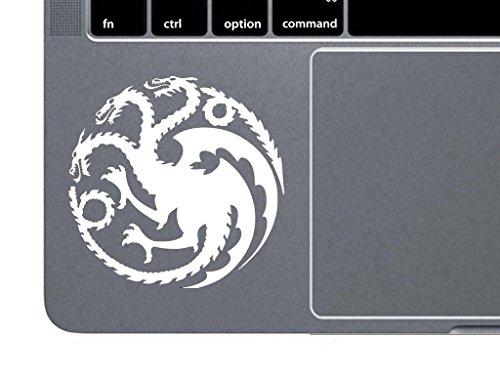 CCI Targaryen Logo Game of Thrones House Mother of Dragons Decal Vinyl Sticker Cars Trucks Vans Walls Laptop  White  4.5 x 4.5 in CCI1517