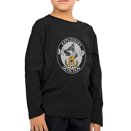 NOT Explosives Detection K9 Lad Girl Leisure ChildLong Sleeve T-Shirt Sweatshirt Black