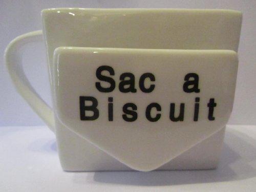 FRENCH BISCUIT POCKET MUG Tazza, Ceramica, bianco, 10 X 9 X 9.5CM