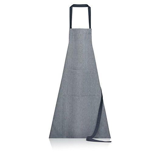 Winkler - Tablier de cuisine à poche Jani – 80x85 cm – Protection 100% coton - Blouse adulte lavable – Sangle ajustable